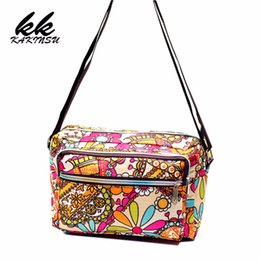 Discount black fabric hobo bag - Women Messenger Bags Print Floral Cross Body Shoulder Canvas Hobo Bag Nylon Oxford Fabric Women's Handbag Bolsas Fe