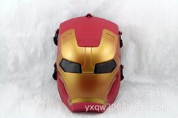 Discount iron man mask adult - DC-20 High quality Iron Man Helmet The Avengers Halloween mask ironman Led adult party COSplay masquerade masks Carnaval
