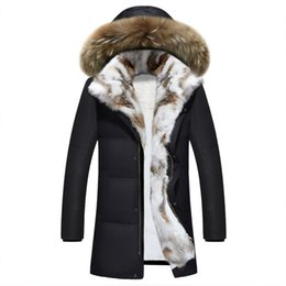 643bc86d8e0a8 Winter jacket men high quality Men s long down coat Fashion big hair collar  Thicker warmth Hooded leisure park jacket Plus size