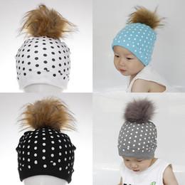 d7f78c9d20d Baby Hat Newborn Baby Dot Baby Boy Cap Cotton Printing Big Pompom Ball  Bobble Hat for Girls Autumn Winter Children s Hats Caps LE119