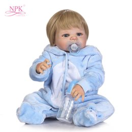 boneca toys 2018 - 22in 56cm Full Silicone Body s Realistic Handmade Baby Dolls Boy Fashion Kids Toy Boneca Model Birthday Gifts cheap bone