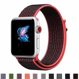 $enCountryForm.capitalKeyWord NZ - Woven Nylon Sport Watch Strap Breathable Replacement Band Bracelet Sport Loop Watchband For Series 1&2&3
