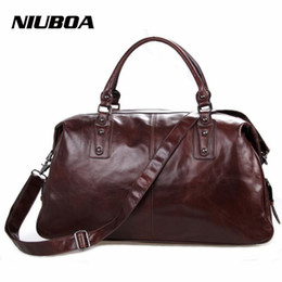 Genuine Leather Handbag Cowhide Shoulder Bag Australia - NIUBOA Men Bag Genuine Leather Travel Bag Crossbody Men's Big Travel Shoulder Bags Tote Laptop Cowhide Briefcases Handbags