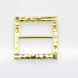 $enCountryForm.capitalKeyWord UK - 100pcs lot 35mm Rectangle Rhinestone Gold Buckles Ribbon Slider Women Clothing for Wedding Invitation Card Hair Craft Accessories
