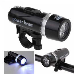 Wholesale Power Beam Bicycle Lamp Torch LED Lights Mountain Bike Accessories Portable Front Head Light Equipment Plastic Flashlight Black sm WW