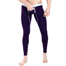 Wholesale mens long johns underwear modal for sale - Group buy Mens Low Rise Pants Warm Modal Underwear Long Johns Thermal Trousers Bottoms