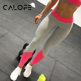 $enCountryForm.capitalKeyWord NZ - CALOFE Patchwork Yoga Pants Women Fit Gym High Waist Yoga Jogger Female Elastic Tights Silm Running Leggings Cool Sportswear New