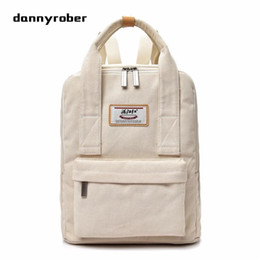 99a8272bc2f3 Multifunction White Canvas Backpack Women Tote Backpack Preppy Style School  Bags For Teenager Casual Travel Bag M1407