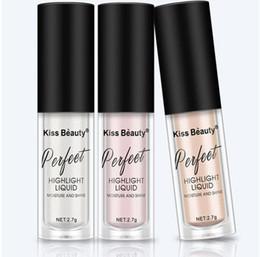 Face Glow Cream Australia - Makeup Highlighter Illuminator Contouring Makeup Face Brightener Concealer Liquid Highlighter Primer Bronzer Face Glow Cosmetics