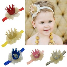 Wholesale 6 colors Newborn Mini Felt Crown With Elastic Headband For Girls Hair Accessories Handmade Luxe Baby Headbands Headwear
