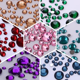 $enCountryForm.capitalKeyWord NZ - 1000Pcs Nail Rhinestones 3D Nail Decoration Colorful Flat Back Mixed Size Gems Manicure Art Decorations