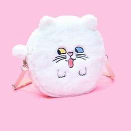 $enCountryForm.capitalKeyWord NZ - Maiden wind Pink Rabbite White Cat Brown Dog Funny Face Shoulder Bag Candy Solid Soft Girls Cylinder Bags Flannel Diagonal