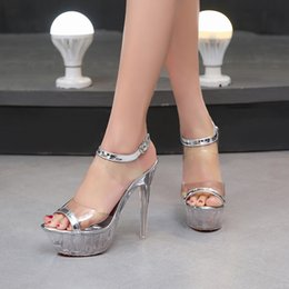 Energetic Sexy 15 Cm High-heeled Sandals Nightclub Dance Shoes Pole Dancing Shoes Model High Heels Dance Shoes Office & School Supplies