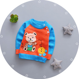 baby pullover NZ - Baby Autumn Spring Clothing New Baby Boys Sweaters 3D Bear Cotton Pullover Kids Girls Knitted Girls Boys Sweater