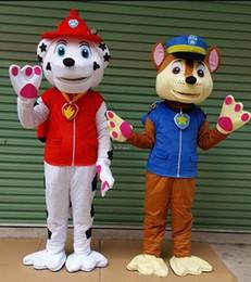 Air Rescue Marshall mascote personagem traje Marshall cão roupas tamanho adulto