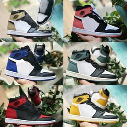 huge discount 9e7c1 ffb0a 2018 nike air jordan 1 shoes michael jordans retro 1 nuevo 1 OG High Game  Royal Basketball Shoes cheap Chicago White para hombre Botas deportivas 1s  Banned ...