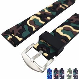 Lo mejor para Samsung Gear S3 Band 22mm Camuflaje para hombres / mujeres Sport Loop con correa de reloj de caucho de silicona suave