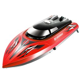 Remote Control Rc Boats UK - SYMA Q1 Remote Control Speedboat 2.4GHZ 4CH RC boat Water Sensor Switch Cooling Device High Quality Toys Gift VS FT012