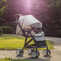 4a346c45f Cochecito de bebé Bedora ultra-ligero puede sentarse puede estar mintiendo  portátil paraguas plegables mini cuatro ronda carrito para niños