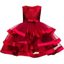 $enCountryForm.capitalKeyWord UK - Flower cake tutu dress children's clothing elegent girl Wedding birthday dress for kids princess party costume 2-10 years old