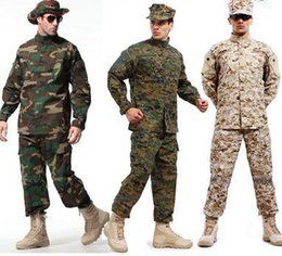 Combat taCtiCal uniforms online shopping - Army Tactical Uniform Shirt Pants Camo Camouflage ACU FG Combat Uniform US Army Men s Clothing Suit Hunting