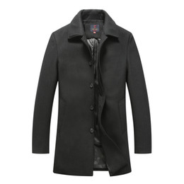 China Wool Coat Men Business Casual Long Sections Woolen Coats Male Clothing Brand Manteau Homme Hiver High Quality Mens Cashmere Coat cheap woolen clothes high brands suppliers