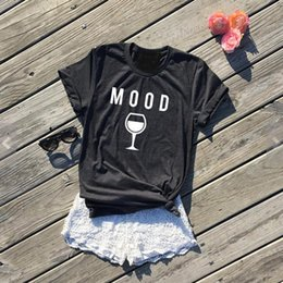 hipster clothing wholesale 2019 - Fashion Clothing Crewneck Style Casual High Quality Cotton Tees MOOD Wine Graphic T-Shirt Hipster gifts for wine lovers