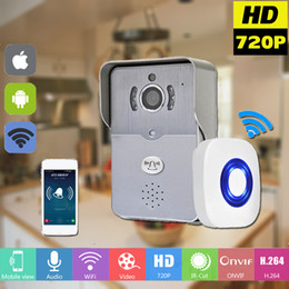 $enCountryForm.capitalKeyWord UK - Wireless IP Doorbell With 720P Camera Video Intercom Phone WIFI Door bell Night Vision IR Motion Detection Alarm for IOS Android