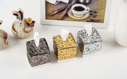 silver wrapping paper 2019 - Wedding Party Favors And Gifts Wedding Favor Chocolate Candy Gift Boxes Party Silver Gold Glitter Favor Box For Guest ch