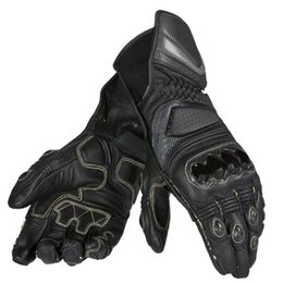 $enCountryForm.capitalKeyWord Australia - Motorcycle for Dain Carbon D1 long black leather gloves for off-road racing men's gloves 3 colors optional