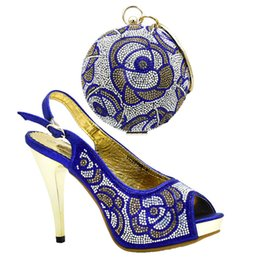China New Arrival Italian Designer Shoes and Bags Matching Set Decorated with Rhinestone Luxury Sandals Women Ladies Sandals with Heels suppliers