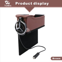Usb Cup Holder Canada - Multifunctional Dual USB interface Charger Car Interior Accessories Creative Design Car Organizer Cup Holder Durable Stowing Tidying Storage