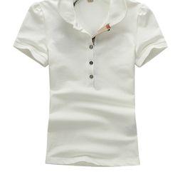 2f5a7845d8dfac Heiße Frauen Shirts Mode Casual Sleeve Fünf Tasten Hemd Für Frauen  Baumwolle Bluse Polos weiß T Frau Kleidung T-shirt