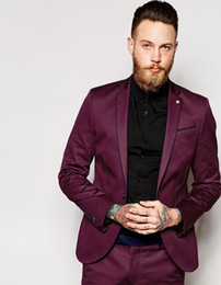 $enCountryForm.capitalKeyWord Canada - 2019 Suit Jacket With Stretch And Contrast Piping In Super Skinny Fit Custom Made Groomsman Suit Wedding Suit (jacket+pants)