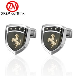 Horse Suit NZ - Formal gold horse Cufflink for Mens Suits Buttons Geometric Wedding Cufflink French Grooms Shirt Brand Cuff Links