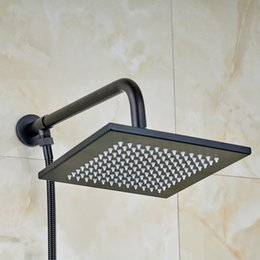 "$enCountryForm.capitalKeyWord NZ - Square Design 8"" Shower Head Wall Mount with 1.5m Shower Hose ORB"