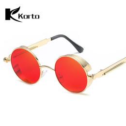 Retro Rodada Steampunk Óculos De Sol para As Mulheres Do Vintage Espelho Do Punk Óculos de Sol 90 S 80 S Hippie Vermelho Óculos Homens Óculos De Alta Qualidade em Promoção