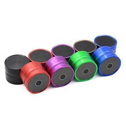 Chinese  New Speaker Shape Herb Grinder 63mm 4 Layers Aluminum Alloy Herbal Grinders Tobacco Spice Crusher 4 Colors VS Sharpstone manufacturers