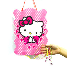 b68c2975cec1 40 30cm hello kitty party supplies paper pinata disposable cartoon theme baby  shower kids birthday party decoration favor set