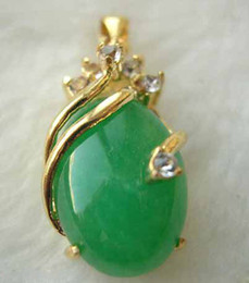 $enCountryForm.capitalKeyWord Canada - Emerald Natural 18K Gold Plated Jade Zircon Turquoise Necklace Pendants Jewlery<<< Free Shipping