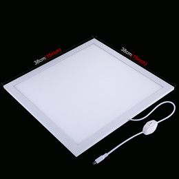 $enCountryForm.capitalKeyWord NZ - PULUZ 1200LM LED Photography Shadowless Light Lamp Panel Pad with Switch, Acrylic Material, No Polar Dimming Light