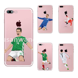 messi case NZ - Messi Ronaldo Soccer Phone Cases for iphone X XR XS Max 8 7 6 6s plus SE S8 S9 S10 P30 soft TPU paint cover shell Football defender Skin 398