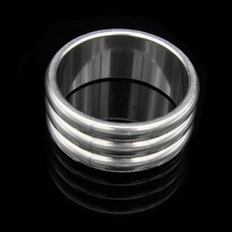 Gear Ring Sex Toy Australia - Stainless Steel Cock Ring Ball Play Testicle Bondage Gear Scrotum Restraints Torture Adult Sex Toys for Men XCXA115