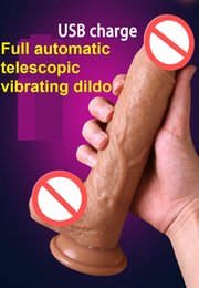 Silicone vibrating dildo Suction cup online shopping - Automatic Telescopic Vibrating Soft Silicone Dildo W Suction Cup Realistic Artificial Penis Dick Women Masturbation Adult Sex Toy For Female