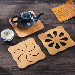 $enCountryForm.capitalKeyWord Australia - Wholesale- Creative Cat Shape Mat Wood Hollow Heat Insulation Non-slip Dinner Bowl Cup Mat Placemat Pad Dish Pot Holder Kitchen Accessories