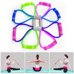 $enCountryForm.capitalKeyWord NZ - New TPE Yoga Pull Rope Fitness Elastic Stretch Band Yoga Pilates 8 Shape Pull Rope Home Gym Exercise Fitness Equipment