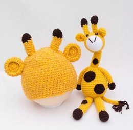 $enCountryForm.capitalKeyWord Australia - Newborn Baby Girl Boy Photography Prop Photo Crochet Knit Costume Deer +Hat Set Baby Photography Props
