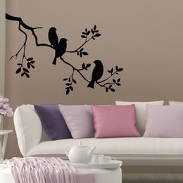$enCountryForm.capitalKeyWord Australia - Birds On The Tree Wall Stickers Home Decor Products Adhesive Vinyl Art Wall Decals Plants Murals On Wall