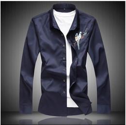 $enCountryForm.capitalKeyWord Canada - Chemise Homme High Quality Mens Shirts Dress Slim Fit Long Sleeve Fashion Polka Dot Print Casual Shirt Men 4XL DS-162
