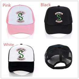 5129eae2d98 30pcs DHL Riverdale Cotton Polyester Adjustable Punk Trucker Peaked Cap  Baseball Cap Hip Hop Flat Hat Costume Unisex Hat Decor